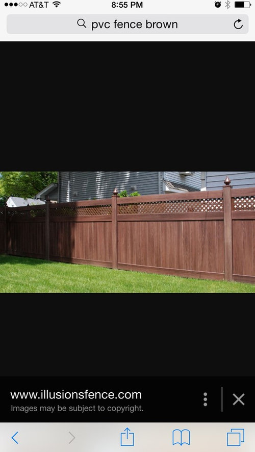 Privacy Fence Or Aluminum Fence With Arborvitae Trees