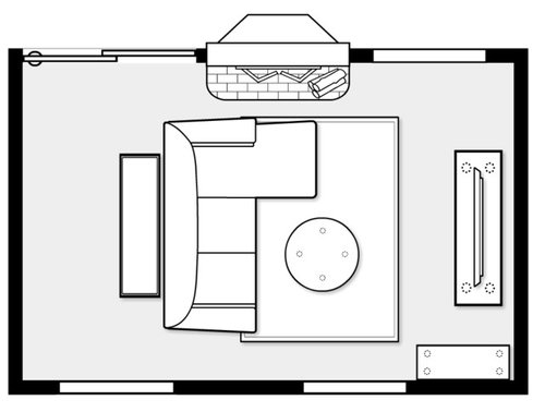 """Need help with living room layout (17"""" x 11"""")"""
