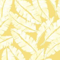 Oriya Rising Peel and Stick Wallcovering, Lemon