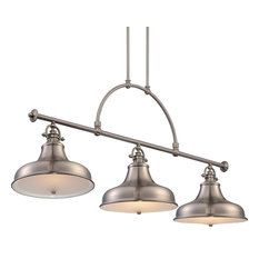Luxury Industrial Nickel Americana Chandelier, Large