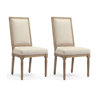 Lille French-Style Dining Chairs, Natural Linen, Set of 2