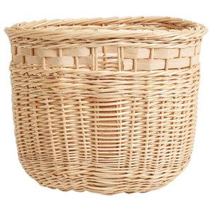 Handmade Willow Block Basket by Hilary Burns, III