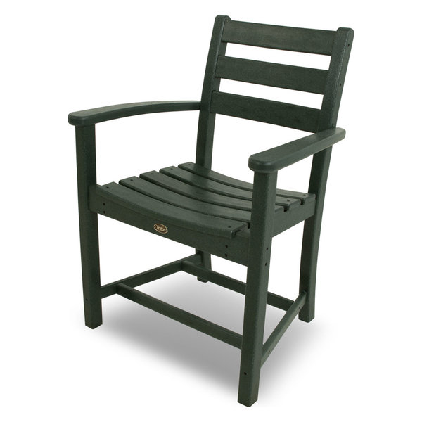 Outdoor Monterey Bay Dining Arm Chair, Rainforest Canopy