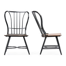 Industrial Dining Room Chairs Houzz - Industrial dining room chairs