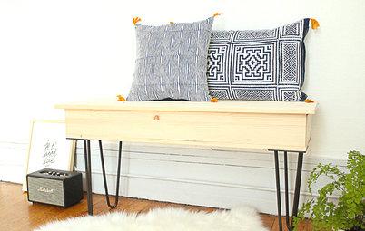 DIY : Fabriquer un élégant banc-coffre sur hairpin legs