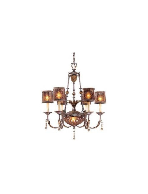 Multiple Chandeliers Over Dining Table