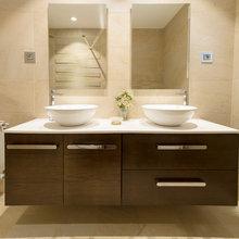 baños con madera