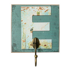 Blancho Bedding - Creative Retro Home Fitting Room Clothes Hat Key Hook, Letter E - Wall Hooks