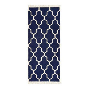 Classic Collection Tangier Area Rug, Navy Blazer, 200x80 cm