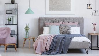 Cool Color Palette Bedroom Design