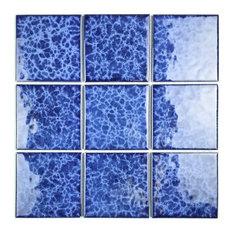 "Miseno MT-WHSMNTPOL-BL Monet - 4"" Square Wall Mosaic Tile - - Blue"