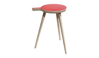 "HOCKER ""GRIFFBEREIT"" in Rot"