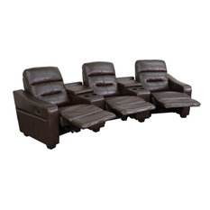 Reclining Theater Seats, Brown By Flash Furniture