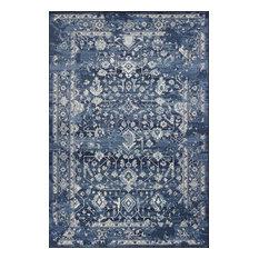 "Bob Mackie Home Vintage 1310 Azure Blue Marrakesh Rug, 5'3""x7'7"""