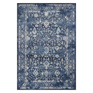 "Bob Mackie Home Vintage 1310 Azure Blue Marrakesh Rug, 7'10""x11'2"""