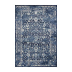 Bob Mackie Home Vintage 1310 Azure Blue Marrakesh Rug, 7