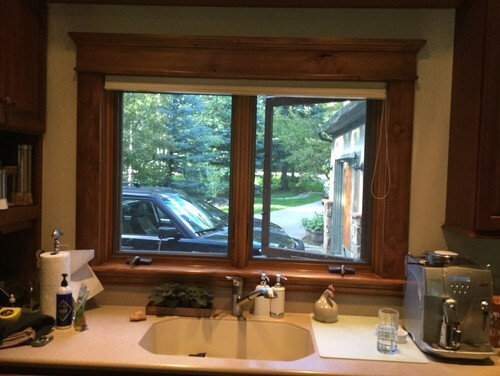crank out windows my kitchen window has the crank at bottom to open which is great and all but what can do for treatment the existing need some ideas for crank out windows