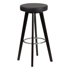 Flash Furniture CH-152601-BK-VY-GG 29-inch Vinyl Barstool Black With Cappuccino