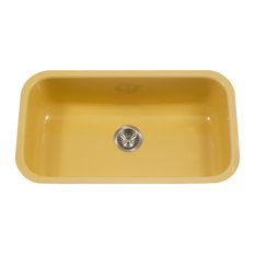 "Porcela Steel Kitchen Sink, 31"", Lemon"