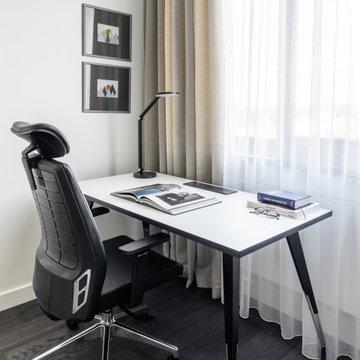 Дизайн квартиры с мебелью Zebrano by Sinteza: креслами,журнальным и smart-столом