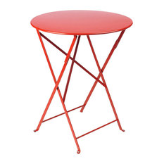"Bistro 24"" Round Folding Table, Poppy Red"