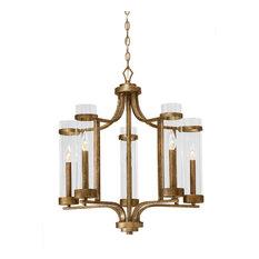 Millennium Lighting Milan Chandelier, Vintage Gold