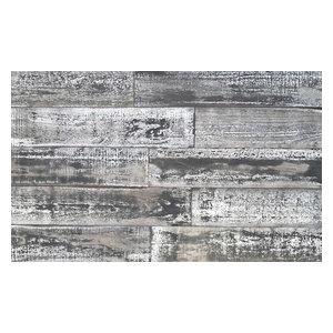 "5""x2' Smart Paneling 3D Wall Planks DIY Country Wood, Set of 12, 10 SF"