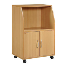 Microwave Cart Mini With 2-Door And Shelf Beech