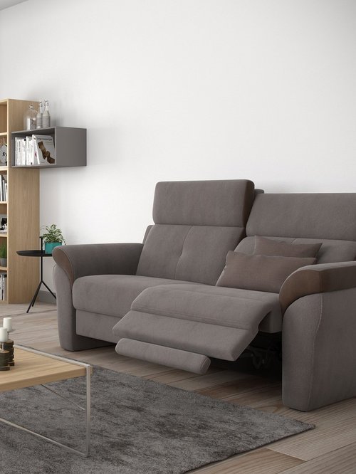 Ares Fabric Sofa With Recliners By Rom, Belgium   Sofas