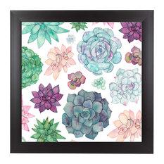 """""""Succulent Garden,"""" Art Print, 15""""x15""""x1"""""""