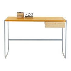 - Tati Desk- Leather Top - Skrivbord