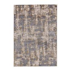 Weave & Wander Vanhorn Rug, Gold and Sterling, 8'x11'