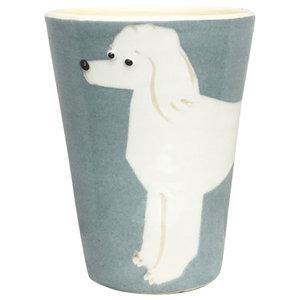 Grey Animal Cups, Poodle, Set of 2