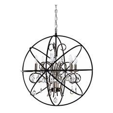 Maxim Orbit Six Light Pendant 25144ARPN