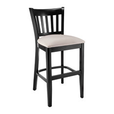 Vertical Counter Stool in Black