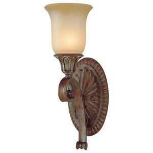 1-Light Wall Light, British Bronze