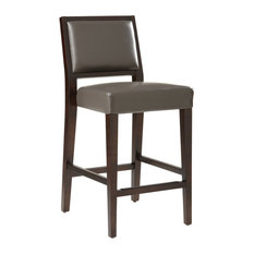 MOD - Vincent Leather Counter Stool, Gray - Bar Stools and Counter Stools