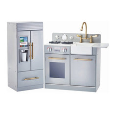 Urban Adventure Play Kitchen With Ice Maker Function Gray