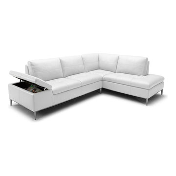 Modern Leather Sectional Sofas with Storage Compartment