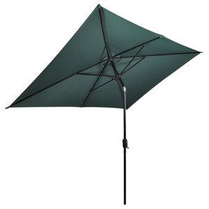 vidaXL Parasol Rectangular, Green, 200x300 cm