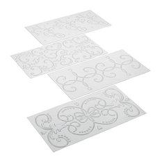 Cake Boss Scroll 4 Piece Imprint Mat Set