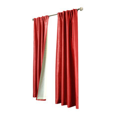 """Thermalogic """"Ming Lined"""" Lined Room Darkening Faux Silk, Red, 52""""x84"""""""