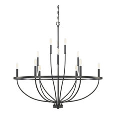 """Capital Lighting 428501 Greyson 12 Light 40"""" Wide Taper Candle Chandelier"""