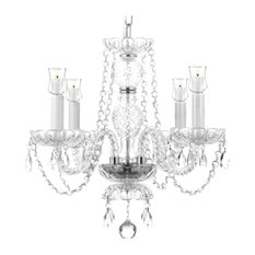 Crystal Chandelier With Candle Votives For Indoor/Outdoor