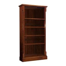 5 Shelf La Roque Mahogany Tall Open Bookcase