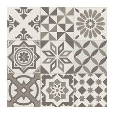 Antigua Gris Mixed Pattern Tiles, 20x20 cm, Set of 25