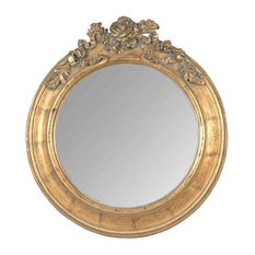 EMDE Round Mirror, Gold, Large
