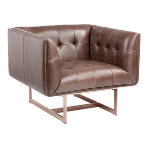 Kaison Armchair Brown Leather  Intrustic home decor