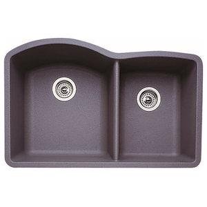 Blanco 32 X20 8 Granite Double Undermount Kitchen Sink Contemporary Kitchen Sinks By Transolid