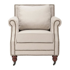 Safavieh   Karsen Club Chair   Taupe   Armchairs And Accent Chairs